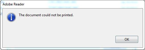 Cant print