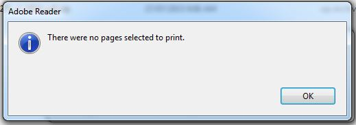 adobe acrobat document could not be printed